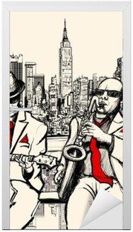 Dwaj mężczyźni jazzowych grających w Nowym Jorku