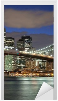 Nowy Jork skyline- Brooklyn Bridge