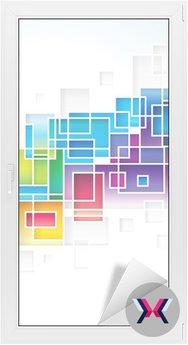 Kolorowe kwadraty projektowania abstrakcyjne tło.