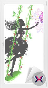 Fairy w wzorów na huśtawce