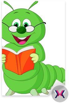 Caterpillar czytanie książki