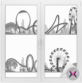 Vector Coaster Silhouette illustration.Roller