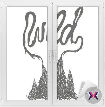 Wektor ręcznie rysowane plakat stylu typografii z sosny lasu