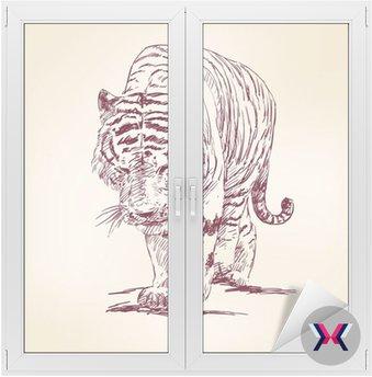 Ręcznie rysowane Tiger