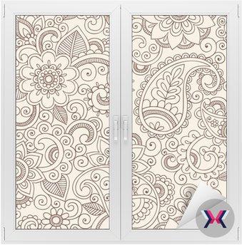 Ornate Henna Paisley Pattern Doodle Vector Design
