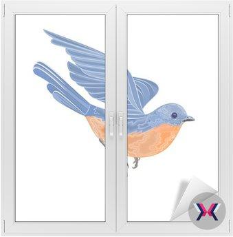 Ptak latający ilustracji wektorowych bez gradientów
