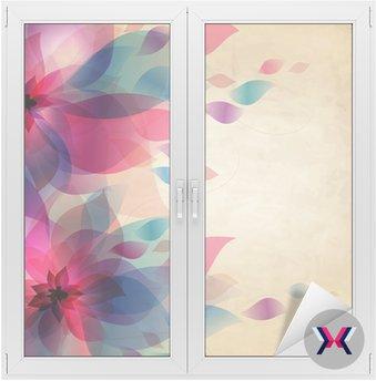 Streszczenie kolorowe tło z kwiatami, karty rocznika wakacje