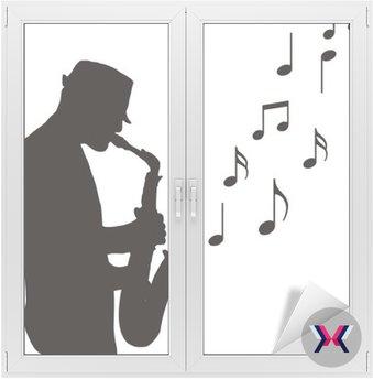 Saksofonista rysunek