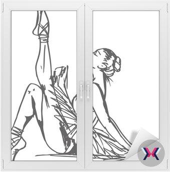 Szkic tancerz. ilustracji wektorowych