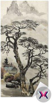 Chiński krajobraz z drzewa