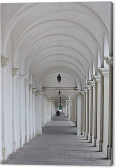 Biały kolumnada z dwóch kochanków