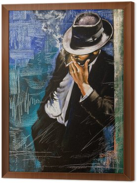 Portret mężczyzny z papierosem