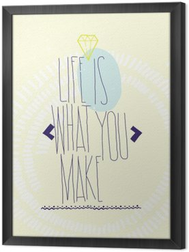 Simple inspirational motivating quotes poster with diamond, dood