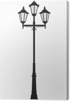 Vector illustration of an old-fashioned street lamppost
