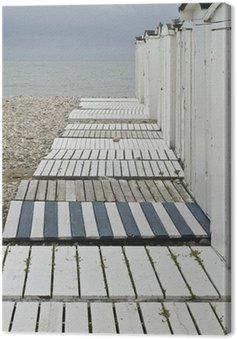 Plaży domków w raju