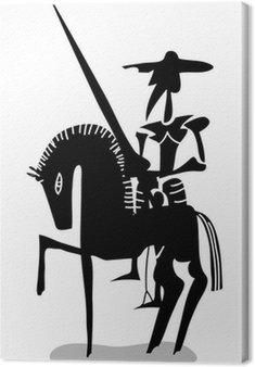 Czarny i biały Don Kichot