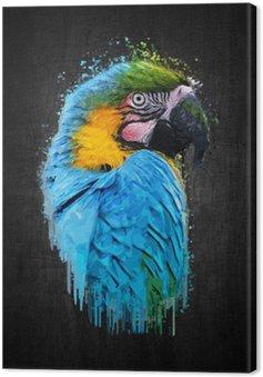 Parrot bird (Severe Macaw). Paint effect