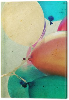 Zamknąć się z kolorowych balonów