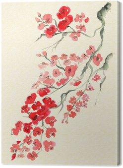 Starożytna tradycyjny Artystyczny kwiat śliwy
