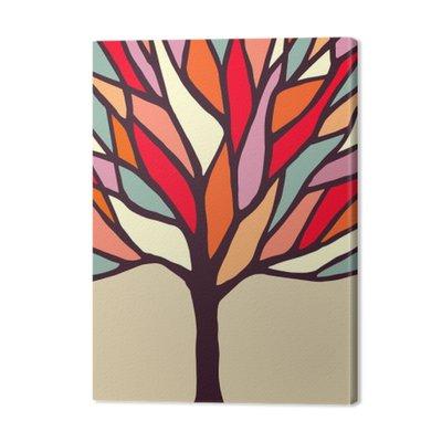 Ilustracja drzewa z kolorowych oddziałach