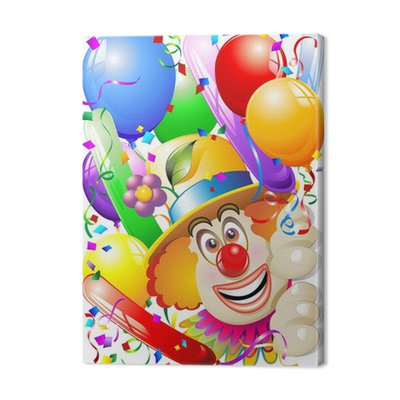 Clown Balony-Mask Carnival klauna Face-Vector