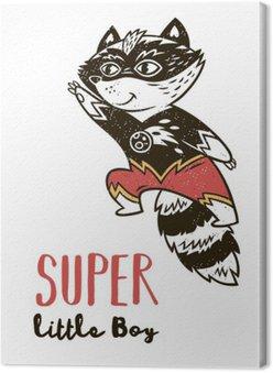 Super Hero kota rysunek na kartkę z życzeniami lub wydrukować tee
