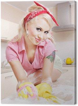 Sexy dziewczyna sprzątanie