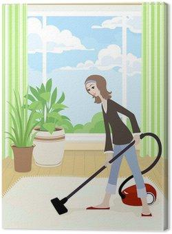 Sprzątanie domu, wektor