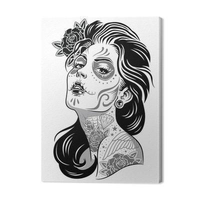 Czarny i biały dzień żyje dziewczyna ilustracji wektorowych