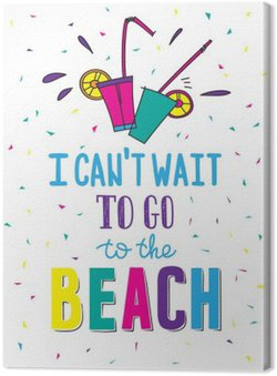 Hand drawn summer poster with quote