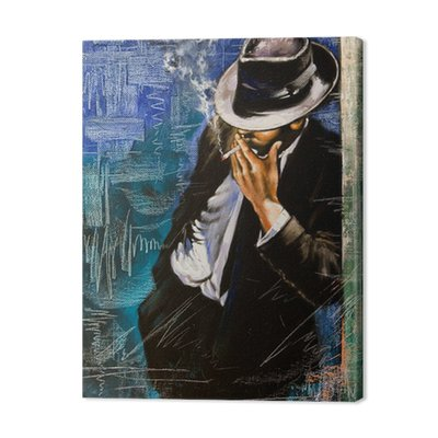 Portrait of the man with a cigarette