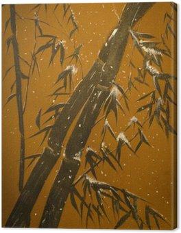 Bambusa i śnieg