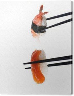 Zdjęcia: sushi z pałeczkami na białym