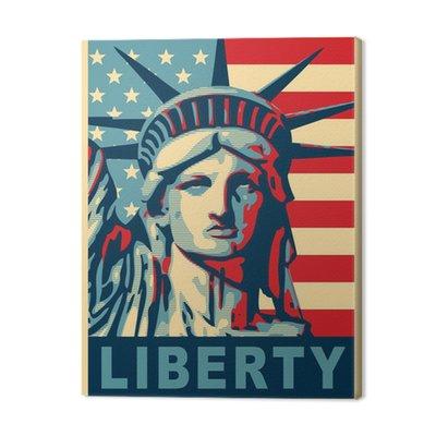 Statua Wolności. nowy jork góry.