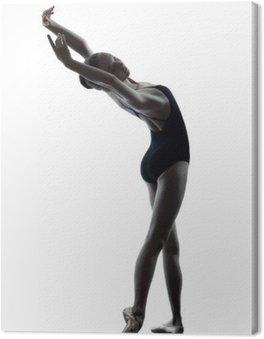 Młoda kobieta baletnicy tancerz sięgania rozgrzewkę