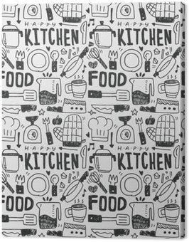 Kitchen elements doodles hand drawn line icon,eps10