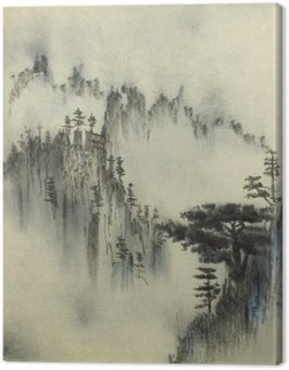 Mountain pine and fog