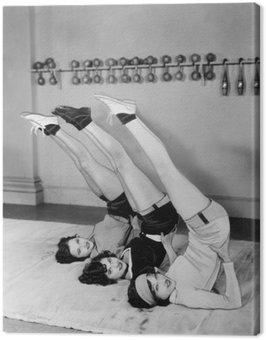 Three women exercising