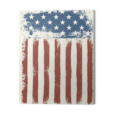 Grunge flag tle amerykańskich. Ilustracji wektorowych, EPS 10.