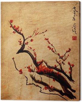 Sakura, kwiat wiśni śliwki chińskie malarstwo
