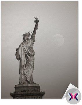 Statua wolności i Księżyca