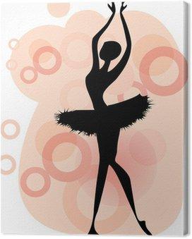 Ballet dancer.Beautiful taniec kobieta, vector baletnicy silhouet
