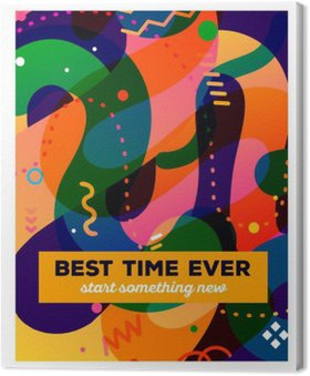 Vector illustration of colorful abstract composition with text o