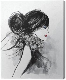 Moda modelu kobieta z szalikiem