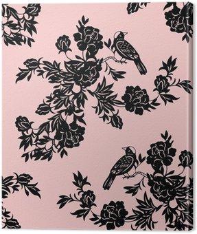 Orientalne wzory kwiatowe i ptaków
