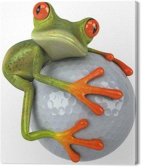 Grenouille et golf