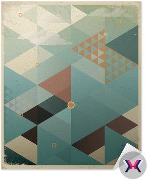 Abstrakcyjne geometryczne tle retro z chmur