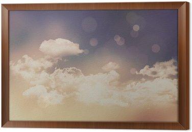 Retro chmury i niebo w tle