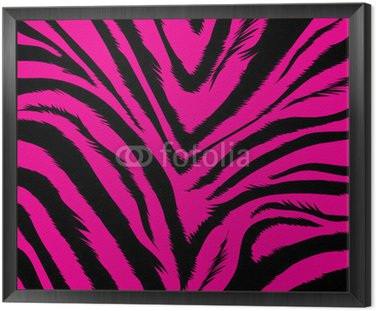 Agresywne różowe tło na podstawie futro zebry