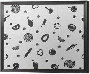 Ilustracji wektorowych pizzy na tle szwu wzór